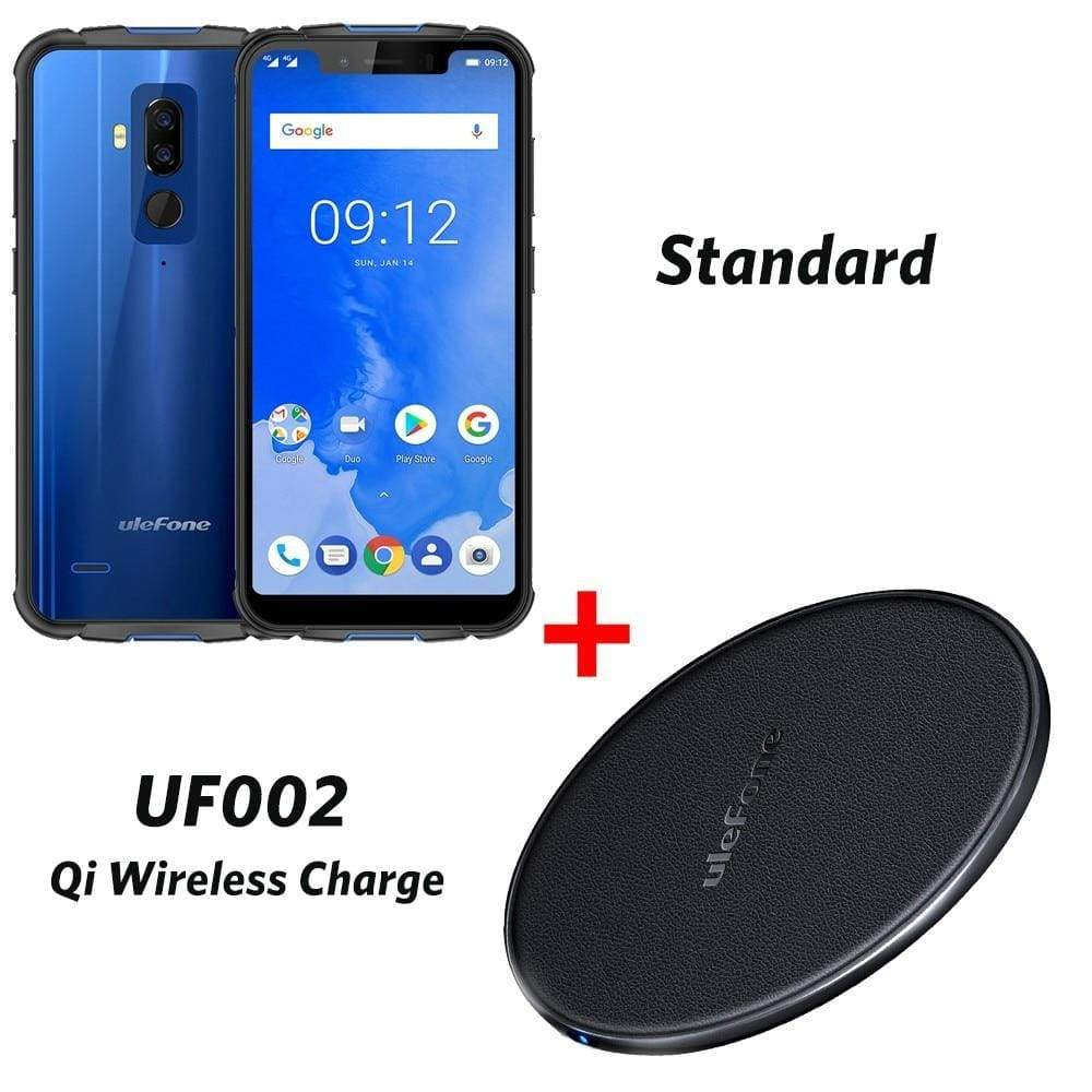 Ulefone Armor 5 IP68 Waterproof Mobile Phone Android 8.1 5.85 HD+ Octa Core 4GB+64GB NFC Face ID Wireless Charge 4G Smartphone - Blue add