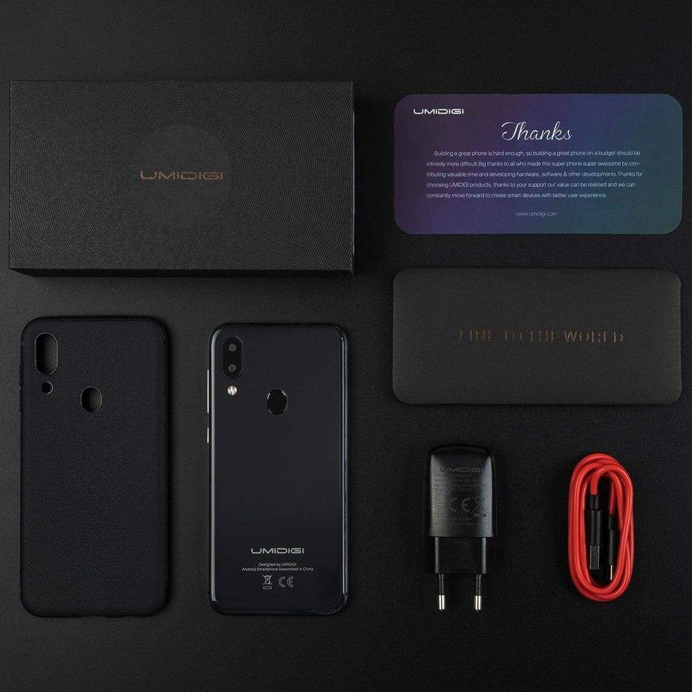 UMIDIGI A3 Global Band 5.5incell HD+display 2GB+16GB smartphone Quad core Android 8.1 12MP+5MP Face Unlock Dual 4G Mobile phone