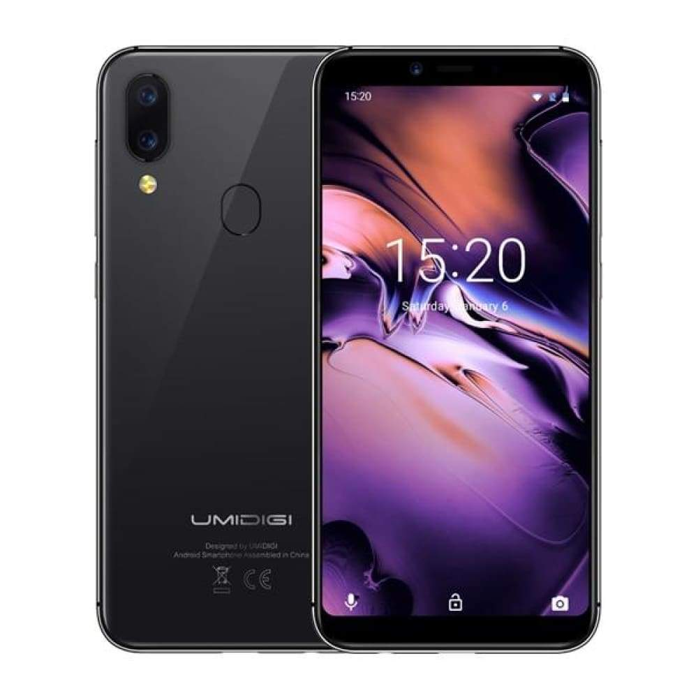 UMIDIGI A3 Global Band 5.5incell HD+display 2GB+16GB smartphone Quad core Android 8.1 12MP+5MP Face Unlock Dual 4G Mobile phone - Space Gray