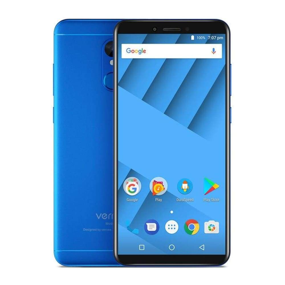Vernee M6 4GB 64GB Smartphone Ultra 5.7inch cellphone 4G LTE Android 7.0 Phone with 13MP Selfie Camera 16MP Cameras Fingerprint - Blue