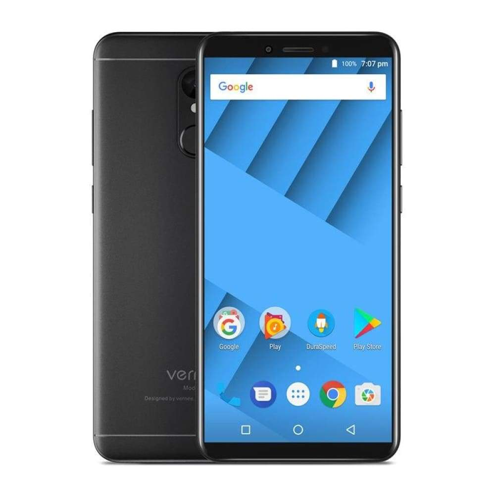 Vernee M6 4GB 64GB Smartphone Ultra 5.7inch cellphone 4G LTE Android 7.0 Phone with 13MP Selfie Camera 16MP Cameras Fingerprint - Black