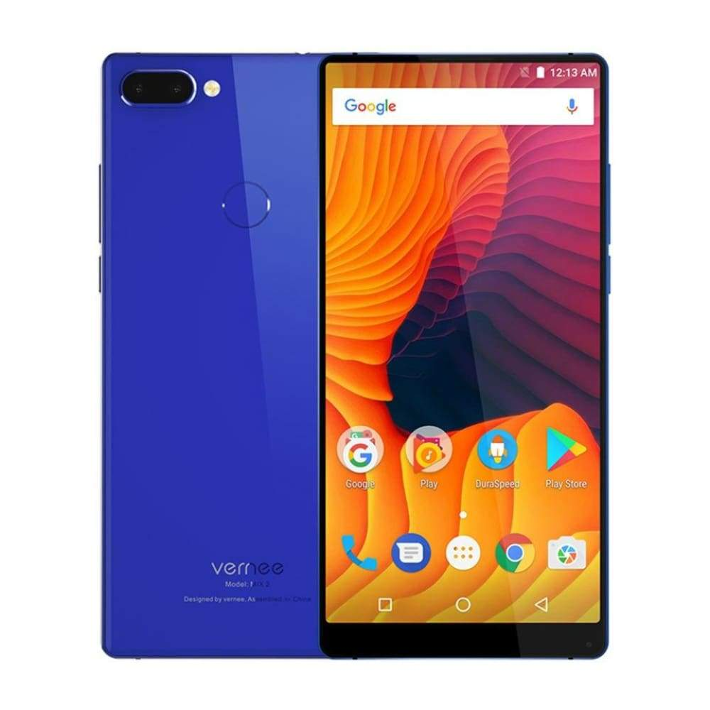 Vernee Mix 2 Mobile Phone 4G RAM 64G ROM MTK6757 Octa core 6.0 Inch 18:9 Display 13.0MP Android 7.0 Smartphone Dual Back Camera - Blue / 4GB