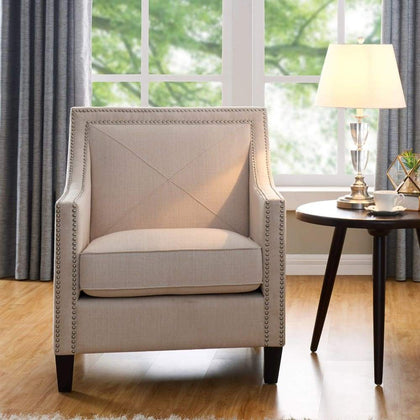 Vincent Fabric Accent Chair - Blue - $299.99