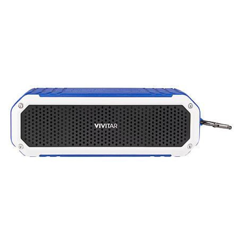Vivitar VS60012BT BLU Bluetooth Waterproof Speaker - Blue/White