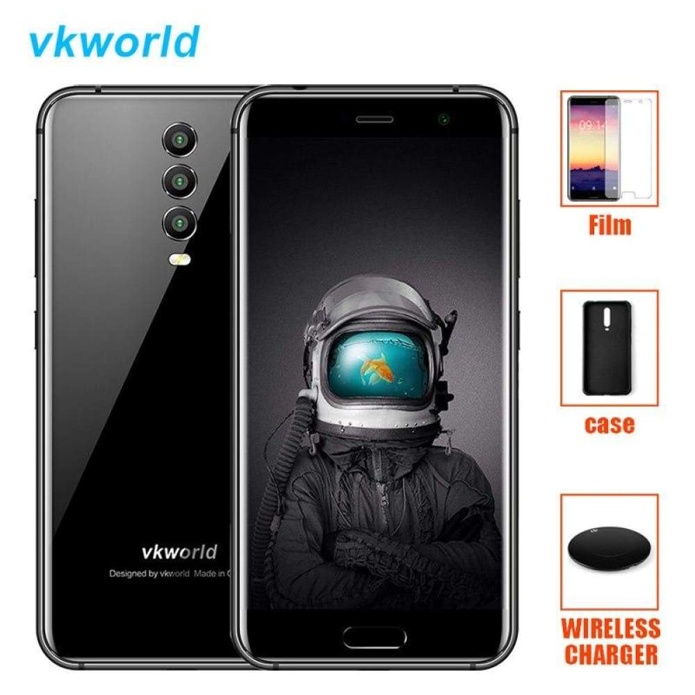Vkworld K1 4G LTE Smartphone Android 8.1 Oreo MT6750T Octa Core 4GB+64GB 4040mAh 21MP 3 Cameras 5V/3A Quick Charge Mobile Phone