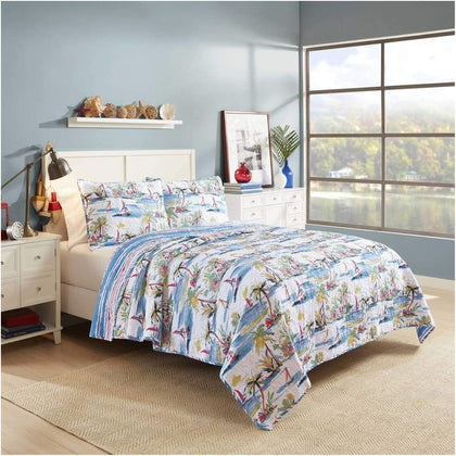 Vue Second Wind Reversible Cotton Quilt Set