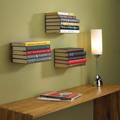 Wall Mount Shelf 3pc Modern L Shape Floating Bookshelf Decor Book Storage Holder