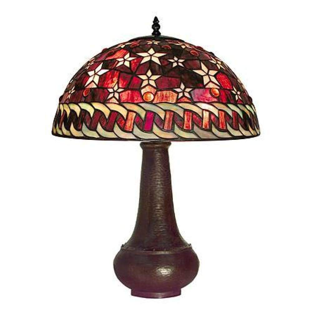 Warehouse of Tiffany Tiffany-style Red Star Table Lamp