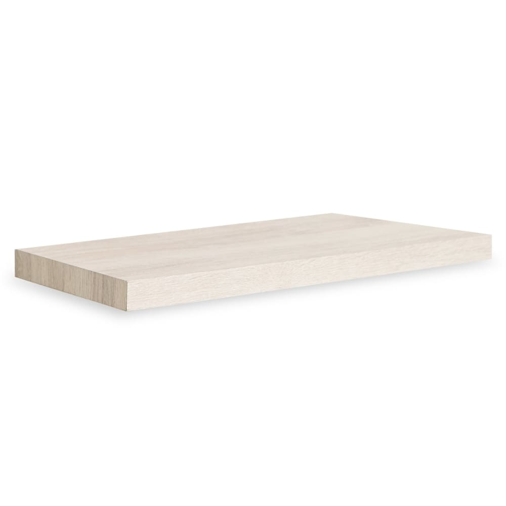 Way Basics Eco Antigua 24 Soft Grain Floating Wall Shelf White Ash