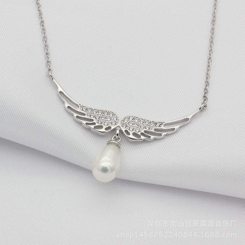 Wing Pearl Silver Dream of Fashion Necklace