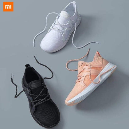 (Women)Original xiaomi mijia 90-piece Siamese sneakers sports shoes surrounded by TPU and high quality leather Running Shoes