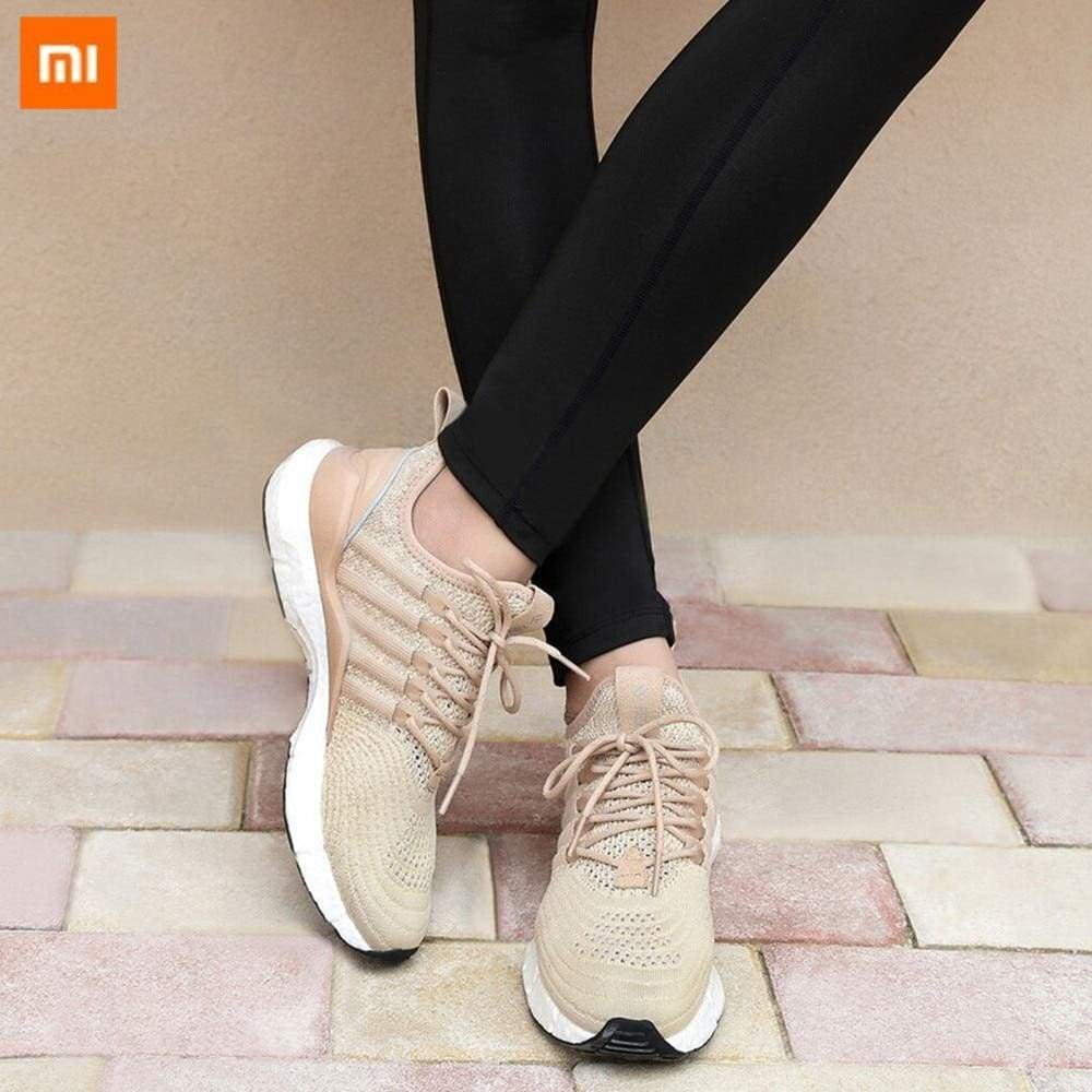(Women)Xiaomi FREETIE sports shoes light ventilate elastic Knitting breathable refreshing city Running Sneaker
