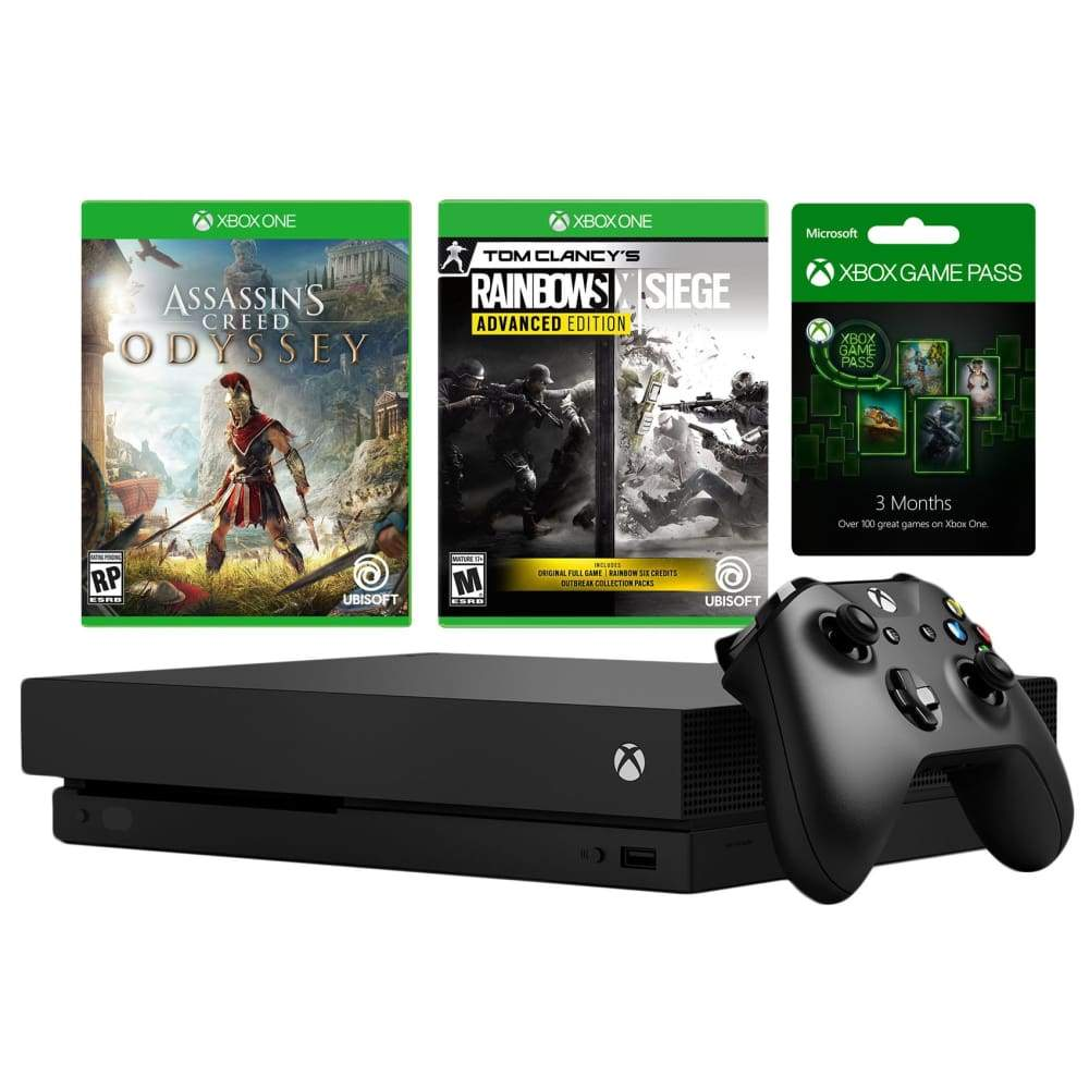 Xbox One X 1TB Bundle 2 Games and 3 Months Game PassXbox Pass