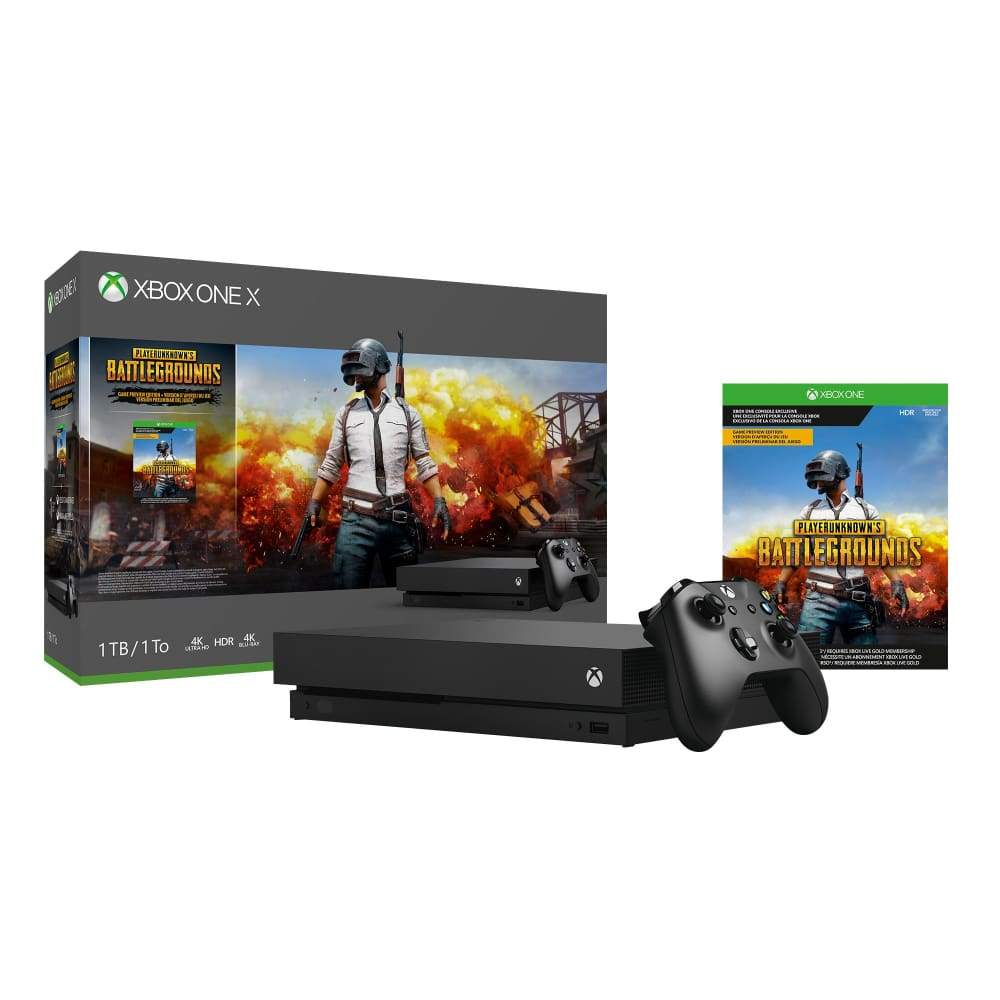 Xbox One X PLAYERUNKNOWNS BATTLEGROUNDS Console Bundle with 3 Month Game PassXbox Pass