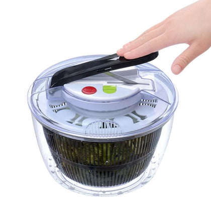2-in-1 Washing Dehydrating Press Salad Bowl - Black - Health & Lifestyle $19.99 Free Shipping Worldwide