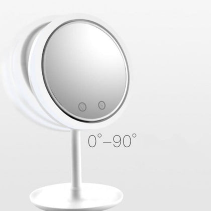 Makeup Mirror with Fan & LED Light Beauty Breeze New - White - Health Lifestyle $29.99 Free Shipping Worldwide