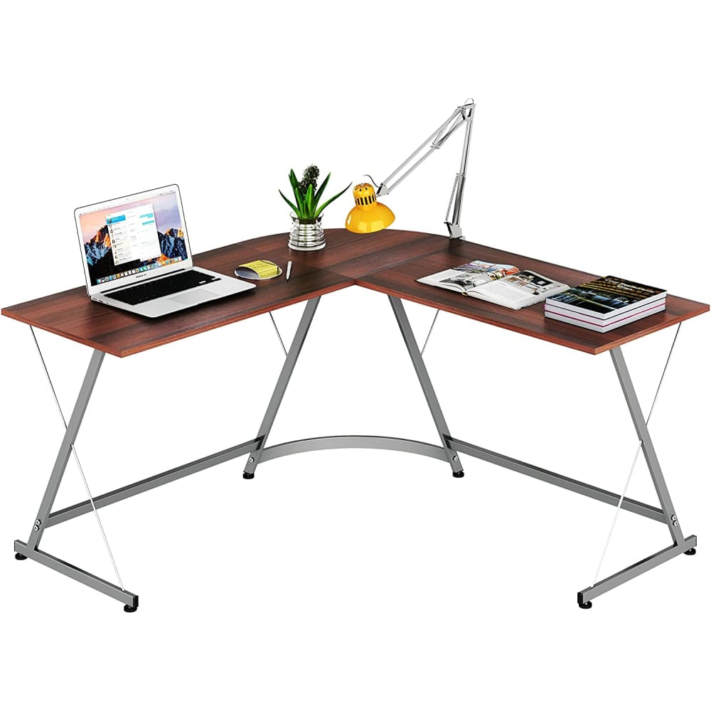Computer Gaming Desk Table Home Office L-Shape Corner Walnut - Decor $99 Free Shipping Worldwide