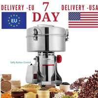 Grinding Machine 1000g 2400g Stainless Steel Swing Type Large-scale Food Mill - 700g - Kitchenware $99.99 Free Shipping Worldwide