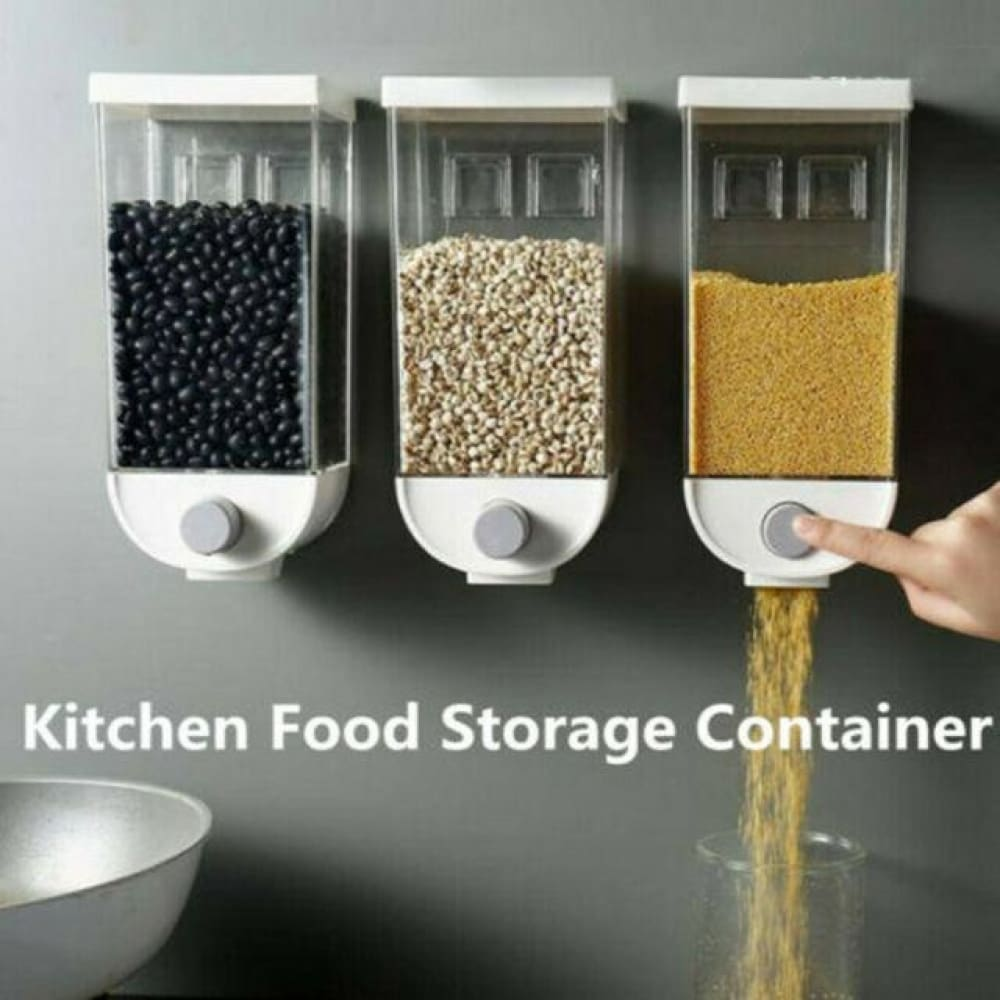 Kitchen Food Storage Container & Dining Easy Press- Cereal Dispenser Oatmeal Wall Mount - Kitchenware $12.99 Free Shipping Worldwide