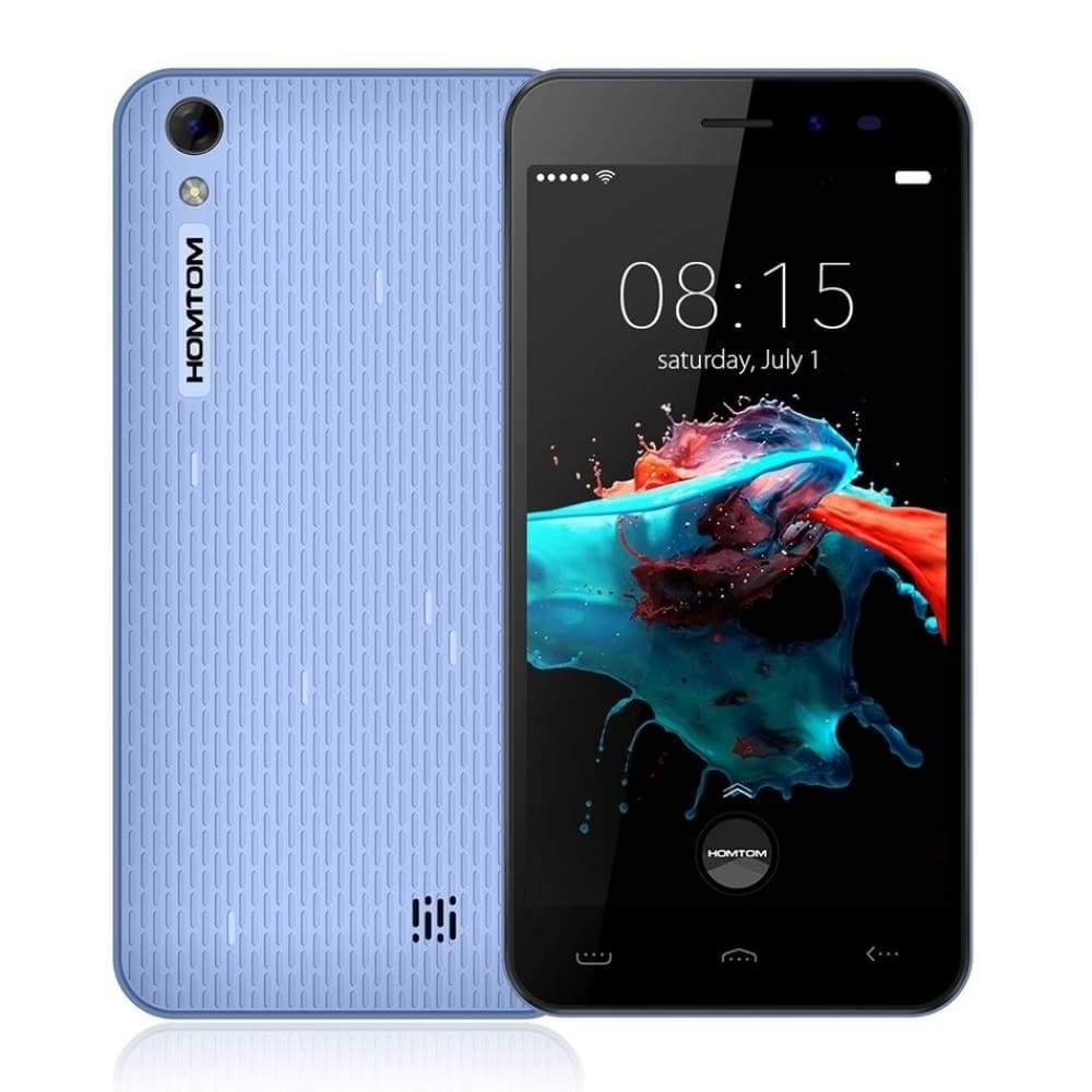 New HOMTOM HT16 5.0 inch 1280x720HD MT6580 1.3 GHz Android 6.0 Quad Core 1GB RAM 8GB ROM 8MP 3G WCDMA 3000mAh Smart Mobile Phone - mobile