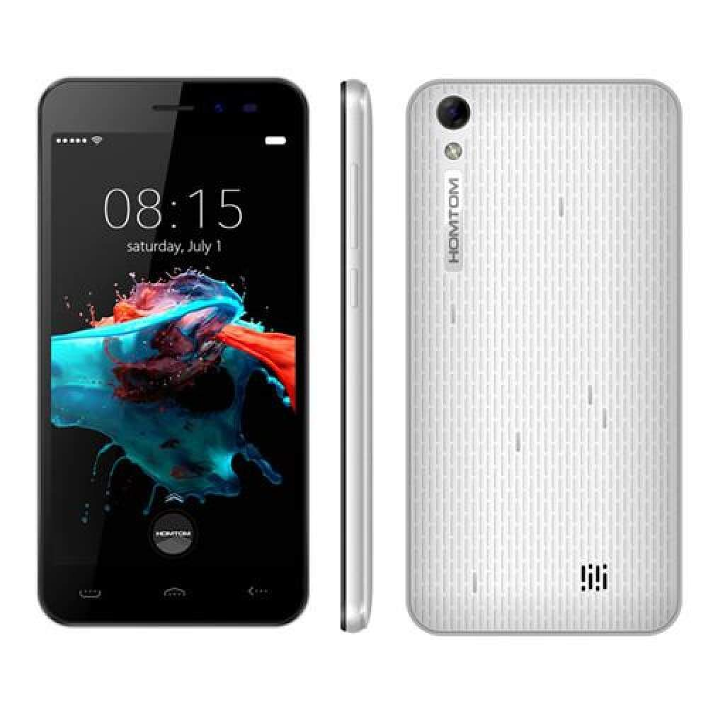 New HOMTOM HT16 5.0 inch 1280x720HD MT6580 1.3 GHz Android 6.0 Quad Core 1GB RAM 8GB ROM 8MP 3G WCDMA 3000mAh Smart Mobile Phone - Official