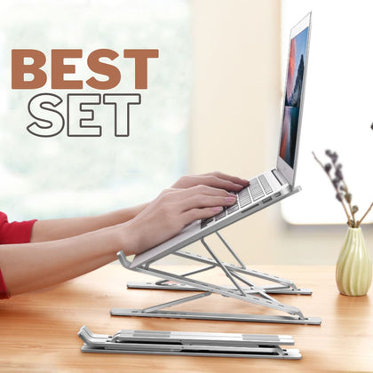 Adjustable Aluminum Laptop Computer Stand Bed Table Foldable Notebook Desk - PC & Accessories $49 Free Shipping Worldwide