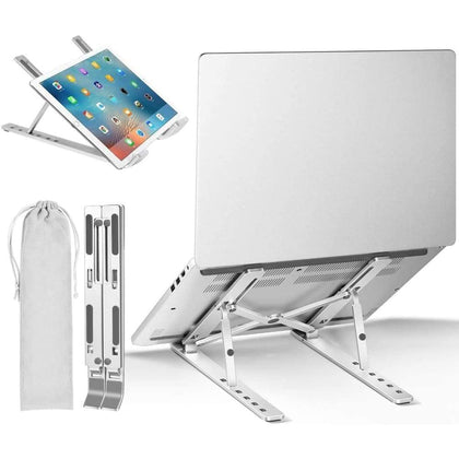 Adjustable Portable Laptop Holder Aluminum bed table - PC & Accessories $19 Free Shipping Worldwide
