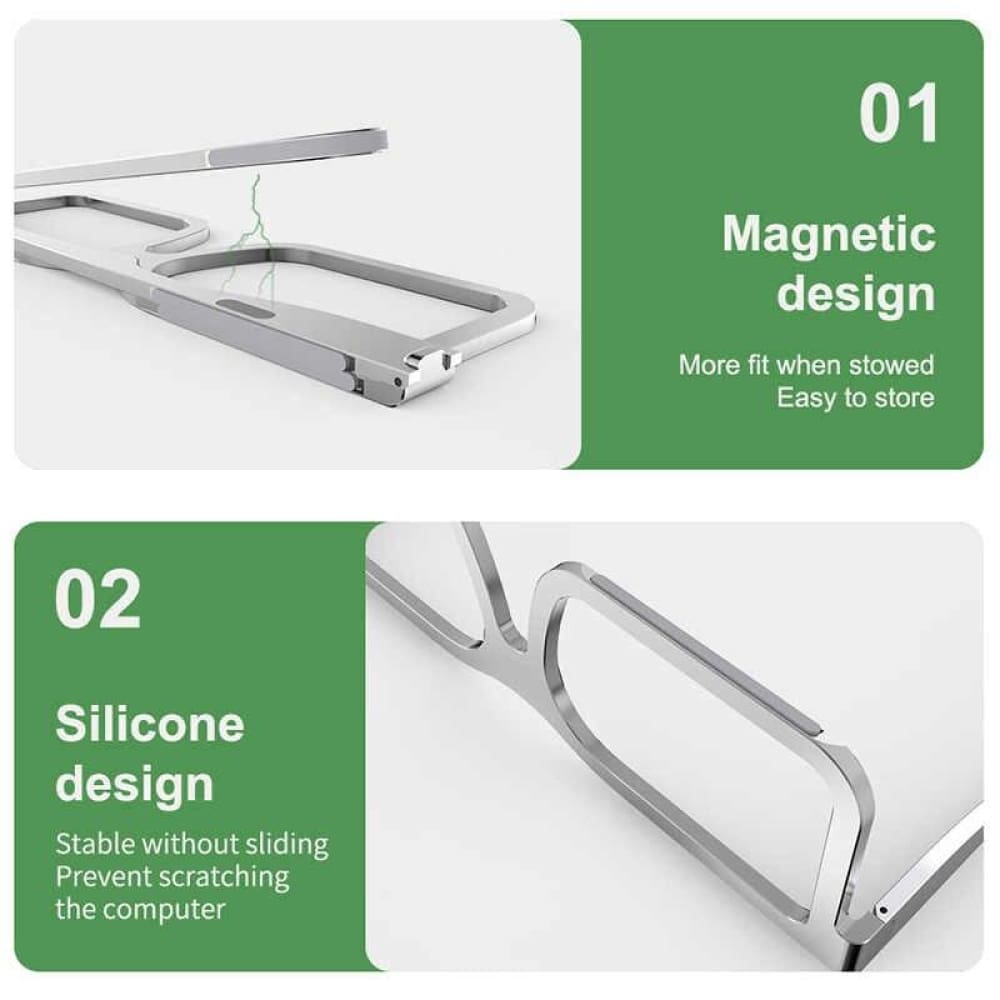Laptop Stand Aluminum Notebook/Tablet Riser Creative Glasses Holder Foldable Computer Mount - PC & Accessories $19 Free Shipping Worldwide
