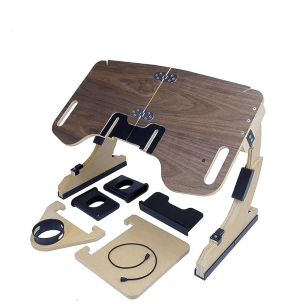 Wooden Laptop Bed Desk Multifunctional Bamboo Multi-Position Adjustable Computer table - PC & Accessories $126 Free Shipping Worldwide