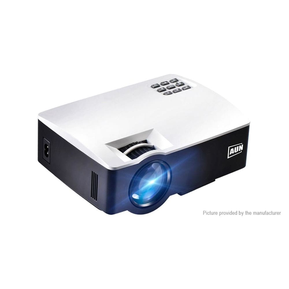 AUN AKEY1 Portable LED Projector Home Theater (US) - Plus Black + White AU - Projectors