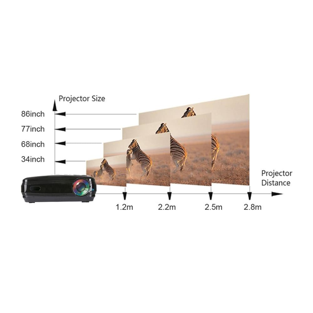 AUN AKEY2 Wifi LED Projector Home Theater (8GB/US) - AKEY1 Plus Black + White AU - Projectors
