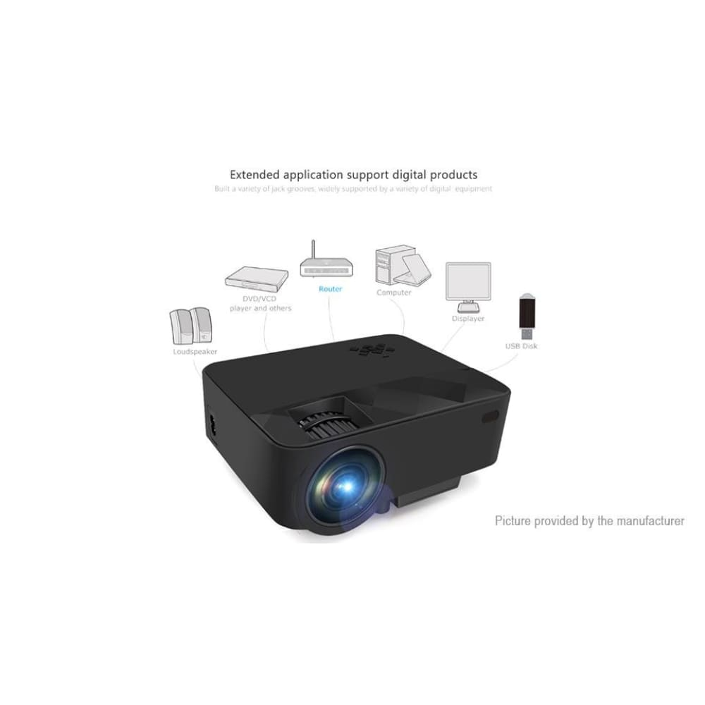 RUISHIDA T21B Portable LED Projector (8GB/EU) - Projectors