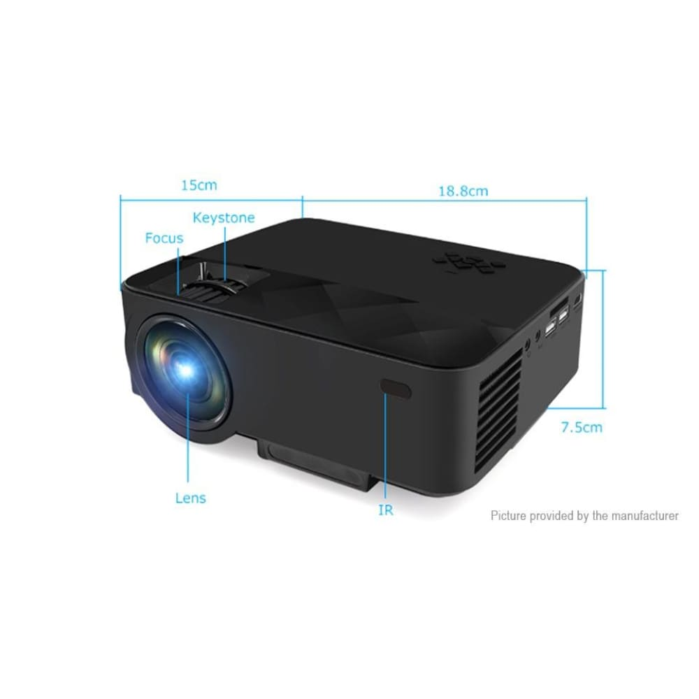 RUISHIDA T21B Portable LED Projector (8GB/US) - Projectors