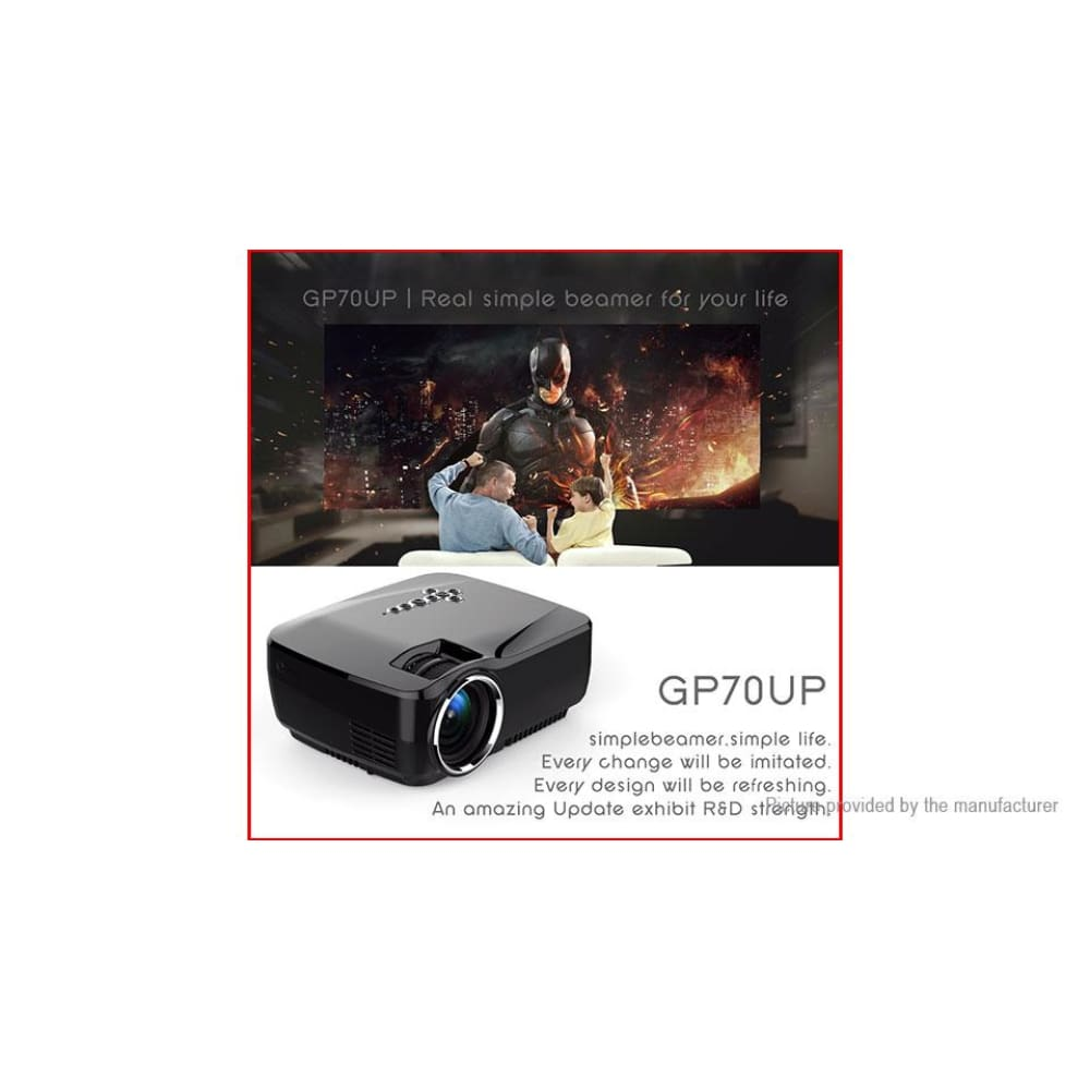 VEIDADZ Portable 1080p Wifi LED Projector Home Theater (UK) - Projectors
