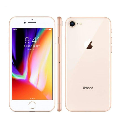 Apple iPhone 8 64GB 256GB Unlocked - Gold - Silver - Black iphone Hexa Core RAM 2GB ROM 4.7 inch 12MP 1821mAh iOS 11 LTE Fingerprint Mobile