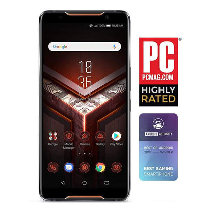 ASUS ROG -8G128G Gaming Smartphone 6 FHD+ 2160x1080 90Hz Display - Qualcomm SD 845 - 8GB RAM/128GB Storage - LTE Unlocked Dual SIM - 8 GB +