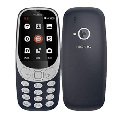 Authentic Nokia 3310 2.4 Dual-band GSM Feature Phone (US) - Black - Smartphone