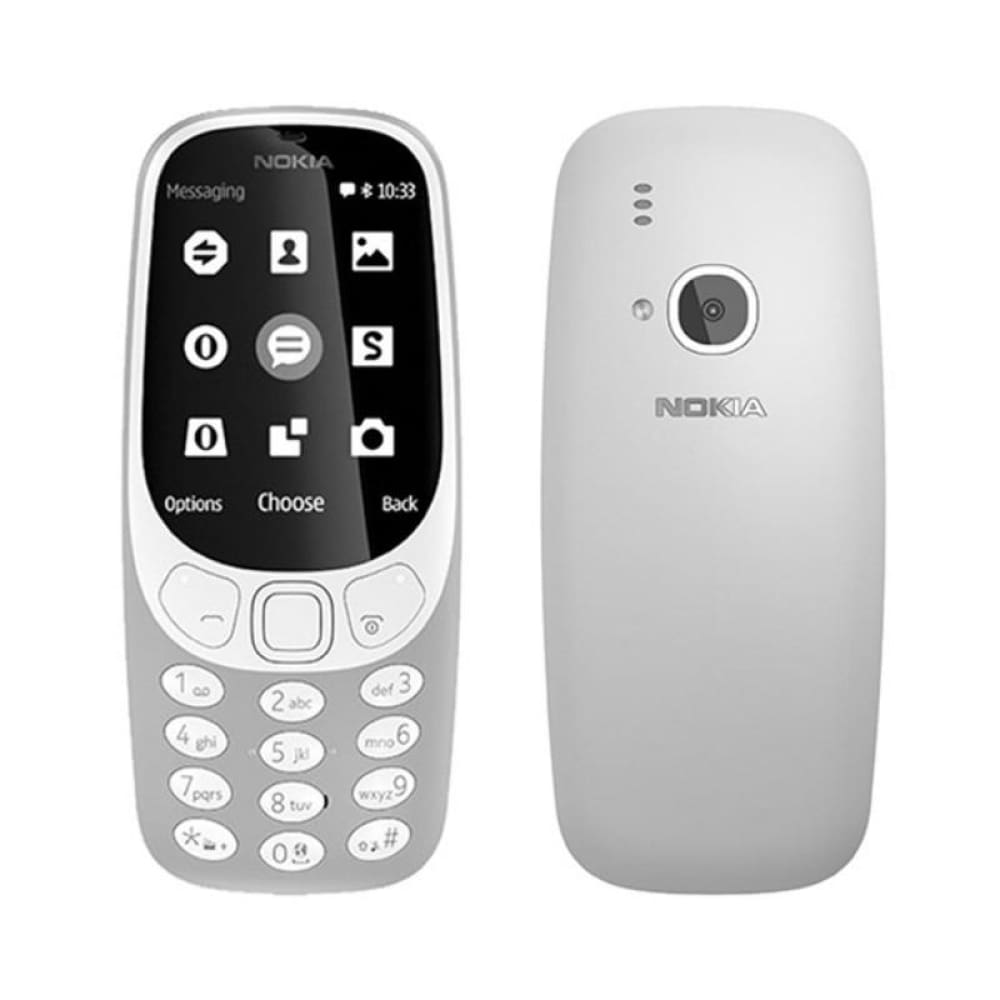 Authentic Nokia 3310 2.4 Dual-band GSM Feature Phone (US) - US Grey - Smartphone