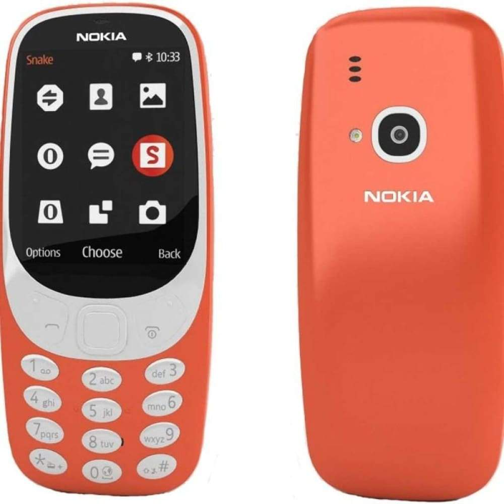Authentic Nokia 3310 2.4 Dual-band GSM Feature Phone (US) - US Red - Smartphone