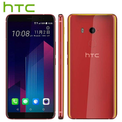 Brand Original HTC U11 Plus U11+ Mobile Phone 6GB RAM 128GB ROM Snapdragon835 OctaCore 6.0 inch 1440x2880px Android 8.0 IP68 NFC -