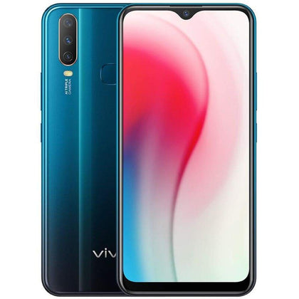 Vivo Y3 mobile phone 4G RAM 128G ROM 5000mAh battery Face ID 6.35water-drop screen Smartphone - Green