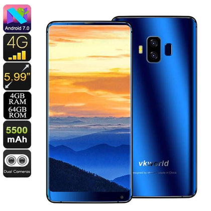 VKWorld S8 Android Phone (Blue) - Smartphone