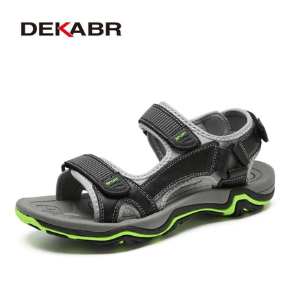 Men Sandals Real Leather NonSplit Soft Comfortable Shoes - Sneakers