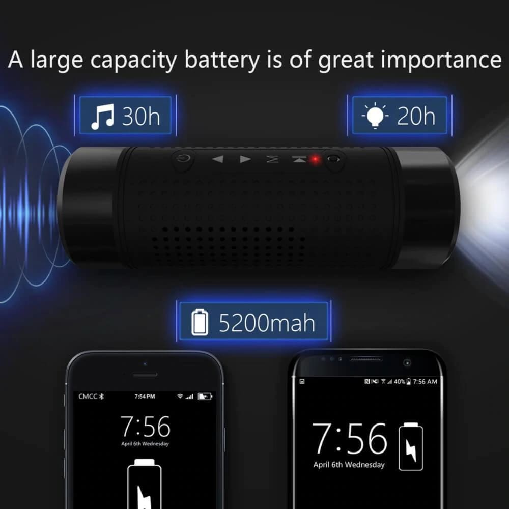 Bluetooth Outdoor Speaker Waterproof Power bank and Smart Flash - Speakers $39 Free Shipping Worldwide