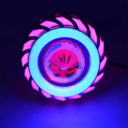12V LED Built-in Headlight Pink Blue - Sports & Outdoors