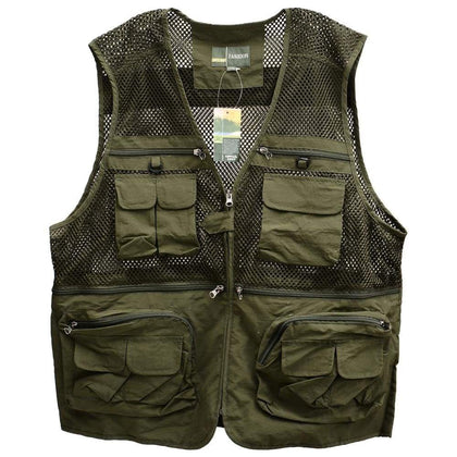 Fishing Multi Pocket ArmyGreen - Sports & Outdoors