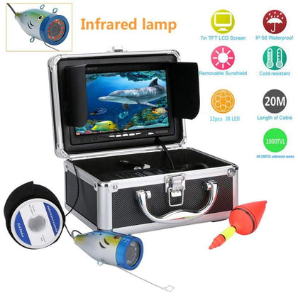 Underwater Fishing Camera w/ 7 Inch Monitor - Sports & Outdoors