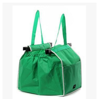 Eco-Friendly Foldable Reusable Shop Handbag - Green / 1pc - Storage & Organization $9 Free Shipping Worldwide