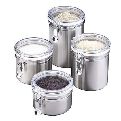 Essential Home 4 pc. Canister Set Stainless Steel