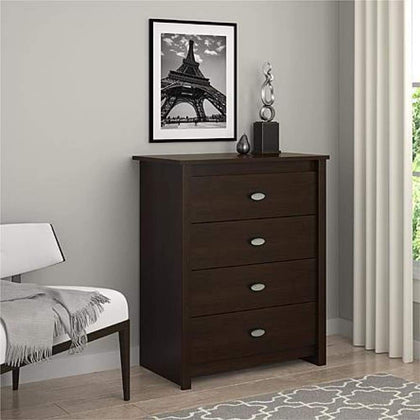 Essential Home Anderson 4-Drawer Dresser - Espresso